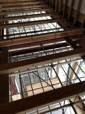 三階床の下地組み
