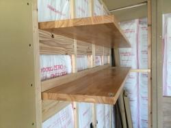 キッチン後ろの固定棚
