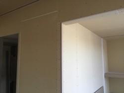 和室の壁PB貼り