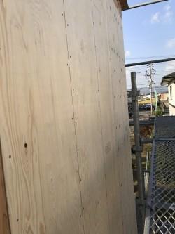 2階の外周部の面材貼り