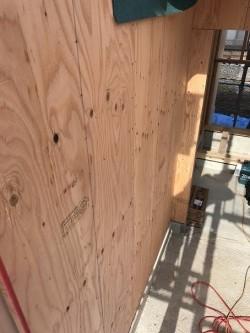 体力壁の施工