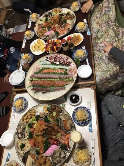 大勢での食事