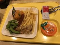 試合後の晩御飯は自宅の近くで食べました