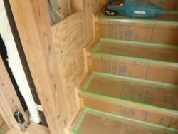 階段巾木取り付け